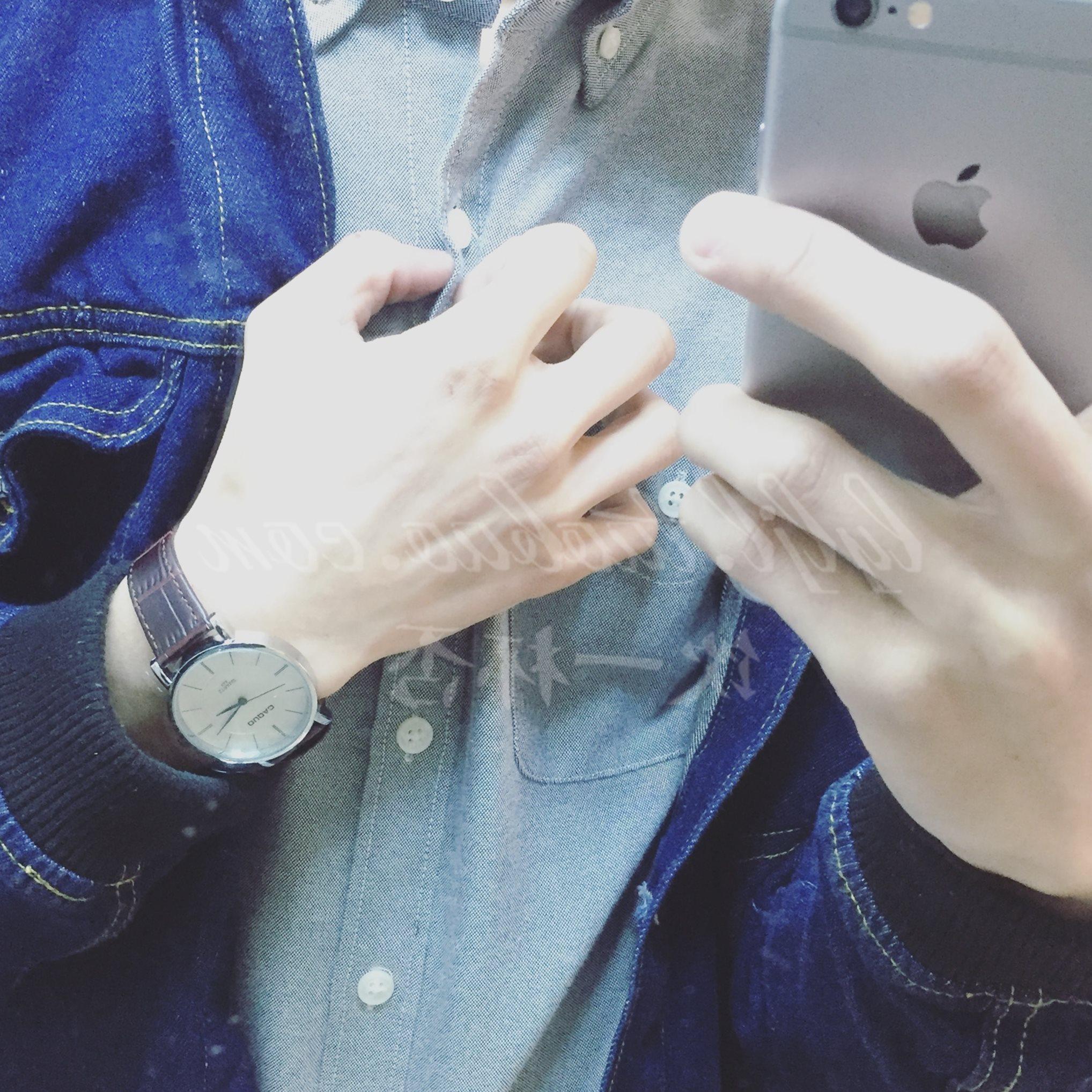 深蓝色的情书。vintage温暖风格指针复古皮带手表 男女情侣款学生