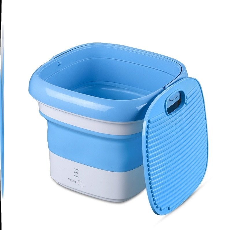 Folding stain cleaning machine electric energy saving wireless mini washing machine small hand-held student portable bra.