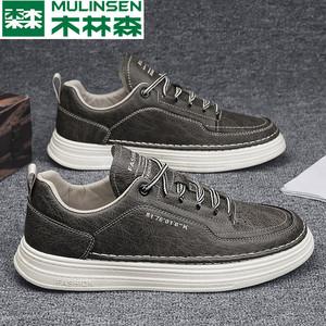 木林森休闲鞋夏季内增高2021男鞋