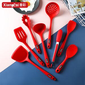 德国香彩硅胶厨具套装耐高温锅铲子勺子家用做饭炒菜全套炊具厨房
