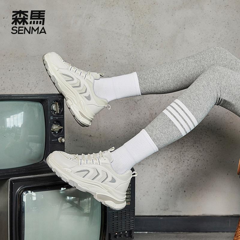 森马新款女鞋老爹鞋2021年夏季休闲鞋学生运动鞋时尚百搭流行潮鞋