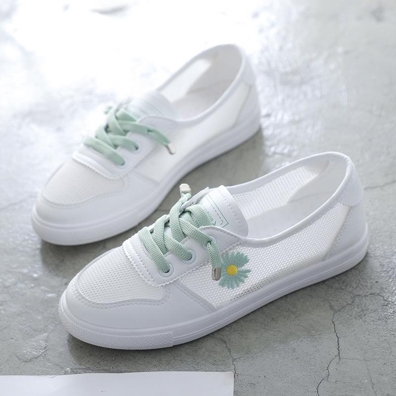 タオバオ仕入れ代行-ibuy99|运动鞋|小白鞋女鞋子2021新款春夏季百搭运动网面透气运动板鞋潮鞋懒人鞋