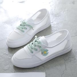 小白鞋女鞋子2020新款夏季百搭运动网面透气小雏菊板鞋潮鞋懒人鞋图片