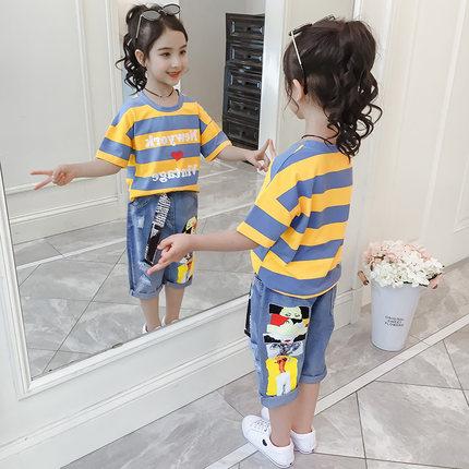 2019女童夏季套装新款儿童夏款韩版