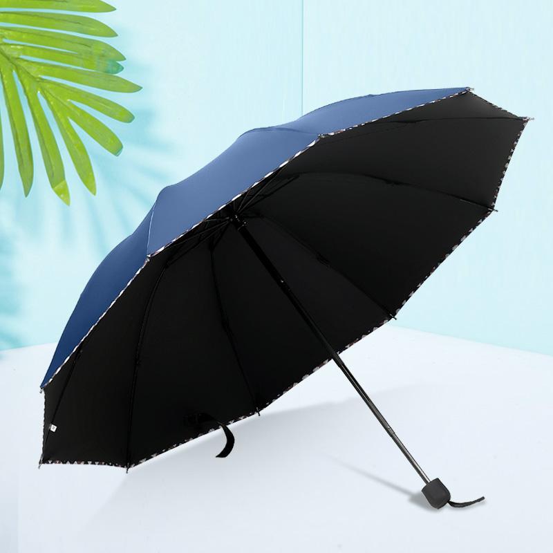 商务大码双人男女结实折叠遮阳伞