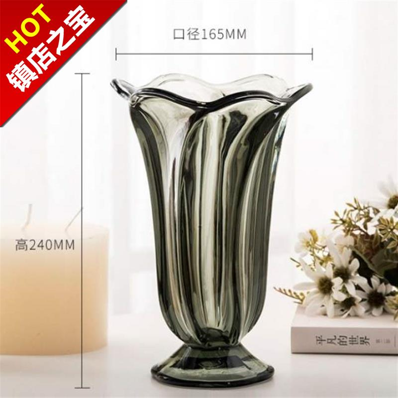 Beautiful glass bottle glass flower large open restaurant coffee shop decoration home m2020 utensils and flowers