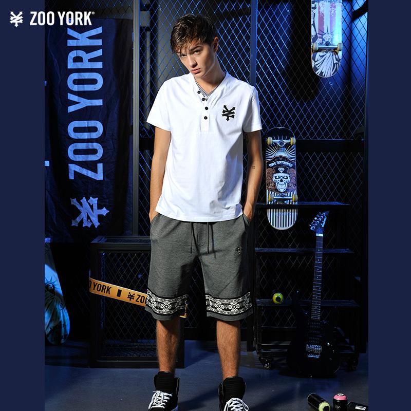 ZOO YORK男士休闲合身版短袖T恤衫 ZS16KT321