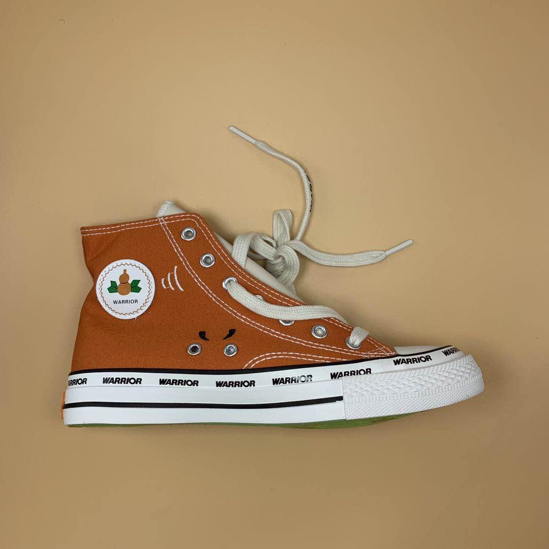 回力×FOURTRY葫芦娃漫改联名帆布鞋爆改手绘涂鸦限量款高帮1970s
