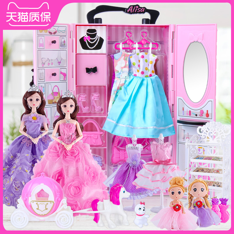 Yitian Barbie Doll Set Big Gift Box Princess Wardrobe Handbag Girl Toys Birthday Girl Girls