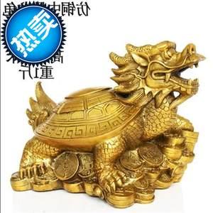 纯f铜龙龟摆件开光风水八卦龙头龟摆件招财镇宅一对大号工艺品