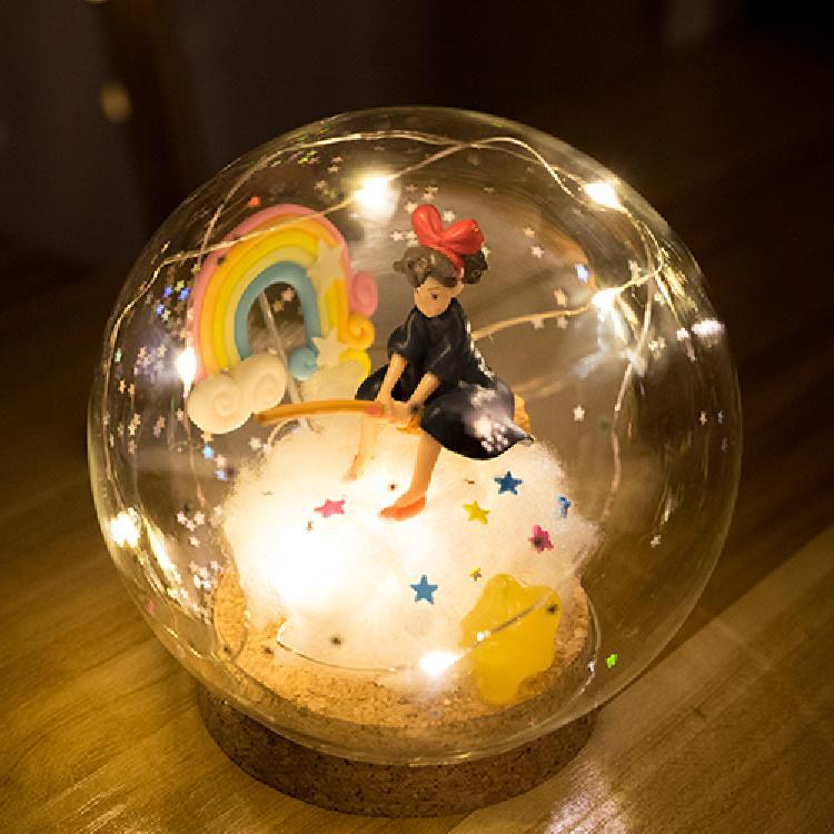 水晶球灯DIY小王子森鹿小魔女千寻宇航员情人生日圣诞礼物摆件