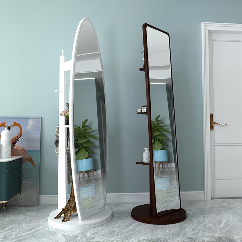 镜子全身镜穿衣镜落地镜家用简约北欧试衣镜女生卧室移动大立体镜