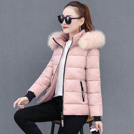 3  羽绒棉服女短款冬装外套棉袄修身加厚大毛领加大码反季清棉衣