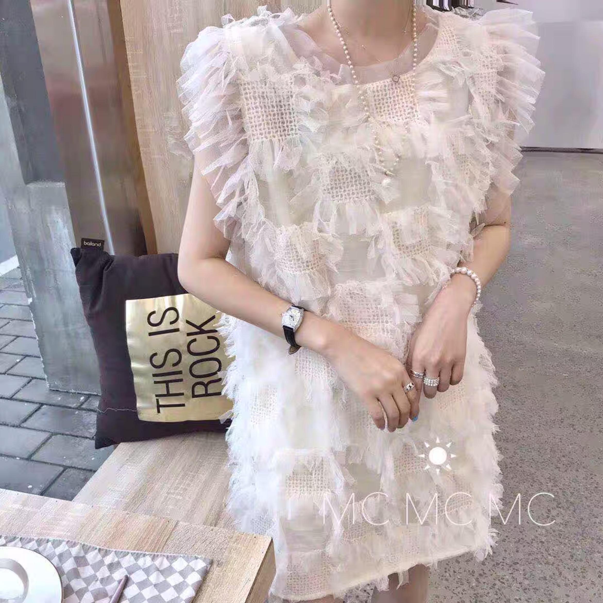 2019夏MC正品女韩版网纱背心连衣裙超仙时尚无袖网红蕾丝仙女裙潮11-30新券