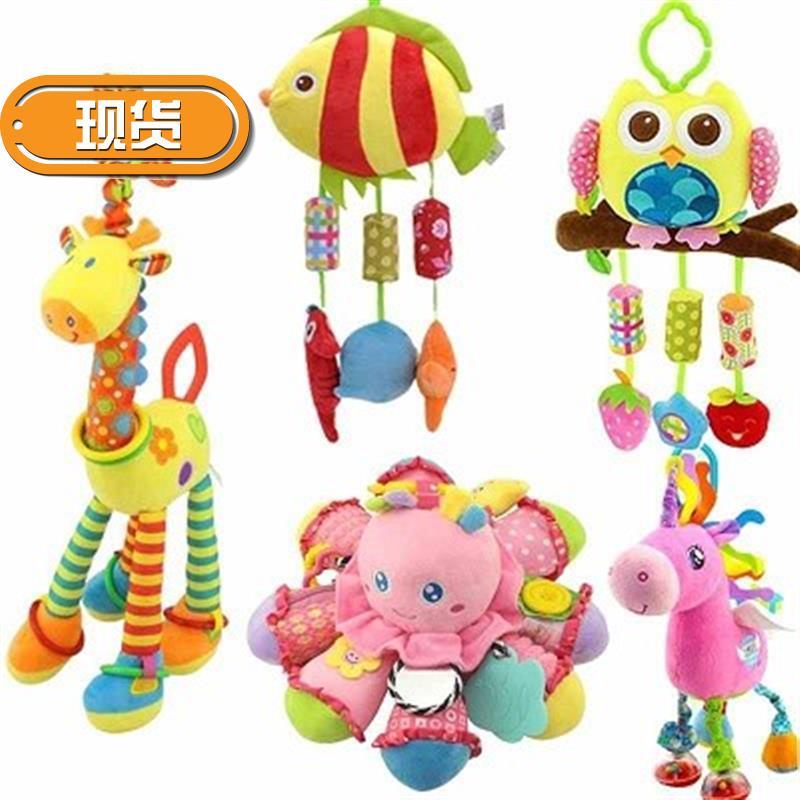 婴儿车上的玩具挂件躺床x汽车童车新品儿童床玩具床风铃手推车毛