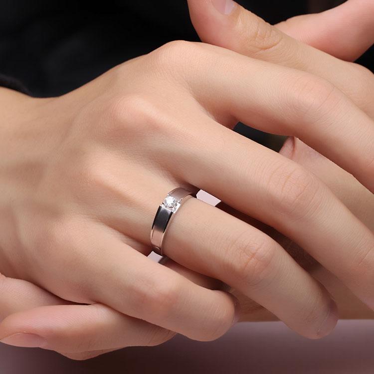 Li Meng Jewelry White 18K gold 10 mens diamond ring for men