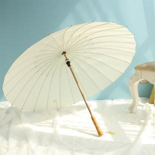 24骨日系復古風加固抗風大號雨傘晴雨兩用遮陽防紫外線男女太陽傘