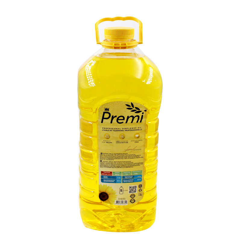 Edible oil barrel packed with pressed sunflower oil for household use