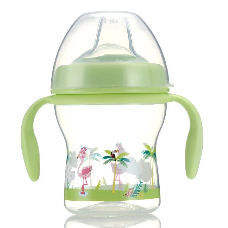 塑料材质宝宝婴幼儿pp新款训练杯