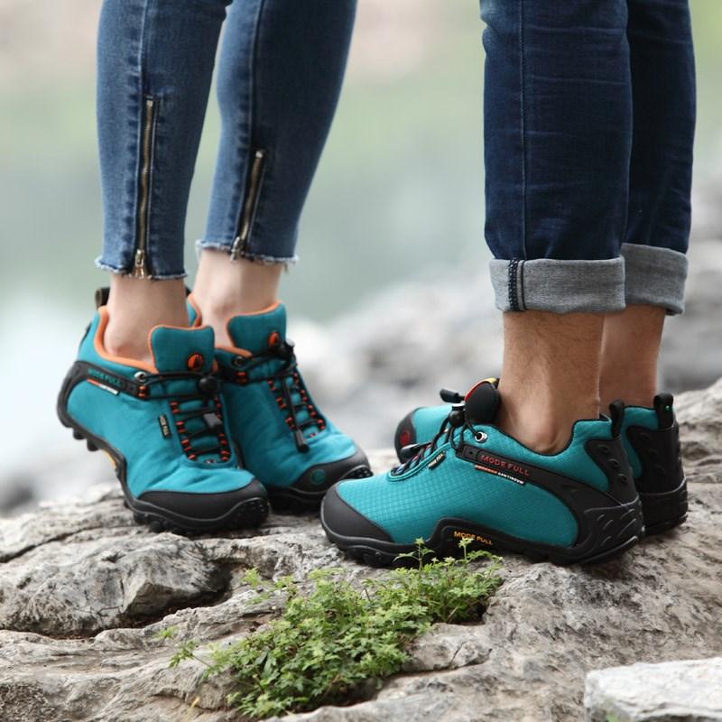 麦乐户外鞋男登山鞋女秋冬防水防滑徒步鞋女透气越野运动鞋爬山鞋