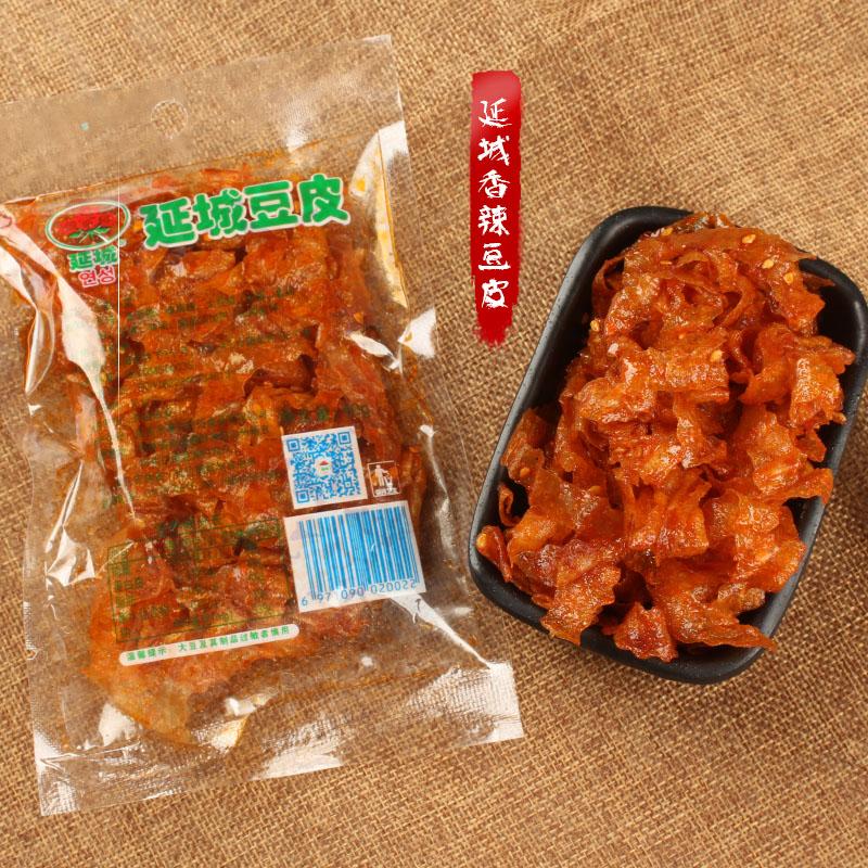 延城豆皮香辣豆皮花样辣条豆干小吃零食80后老味道一袋40g