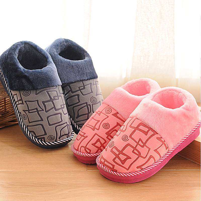 Winter family soft bag with pregnant women spring and autumn cotton slippers fluffy husband home simple winter husband and wife warm
