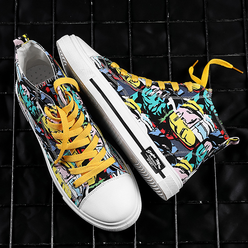 Xuanyao Nike Thai canvas shoes mens high top printing junior middle school childrens graffiti mens shoes 10 trends 12 students 15
