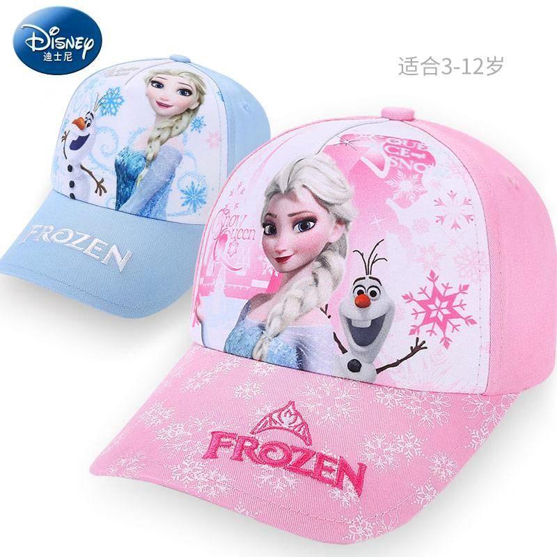 迪士尼女童太阳帽春秋防晒公主韩版儿童遮阳帽子冰雪奇缘鸭舌帽潮
