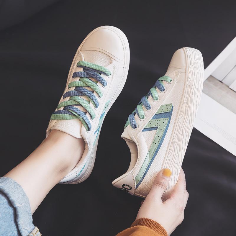 运动小白鞋女鞋2020年春季新款爆款流行百搭学生ins帆布鞋球鞋子