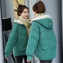 加肥加大码轻薄棉服羽绒女胖mm2019短款200斤小棉袄冬装外套棉衣
