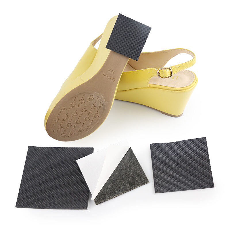 Square heel anti-wear shoes heel thick heel wear-resistant sole cattle tendon rubber pad silent silencing heel paste