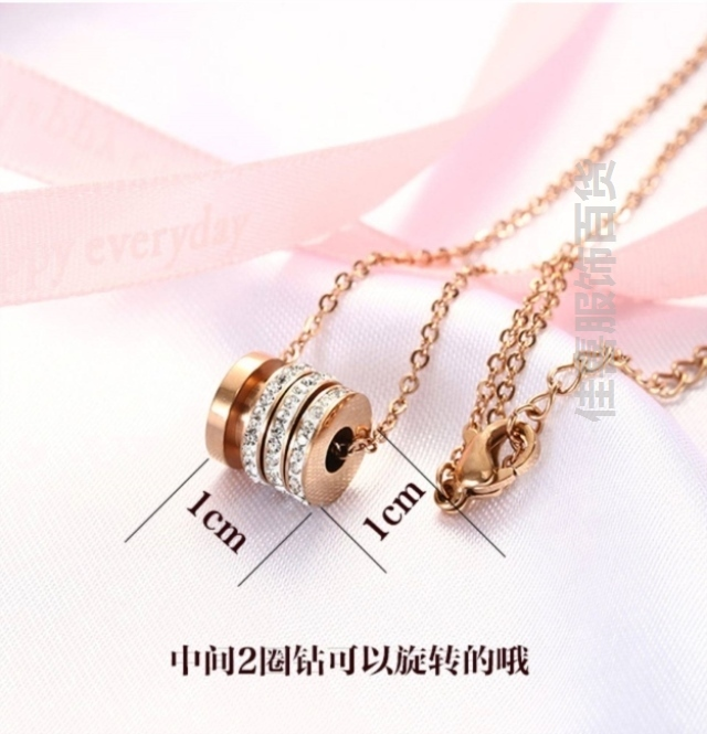 Necklace, female clavicle, lovely black decoration, small and versatile style for girlfriend, wearing titanium, simple