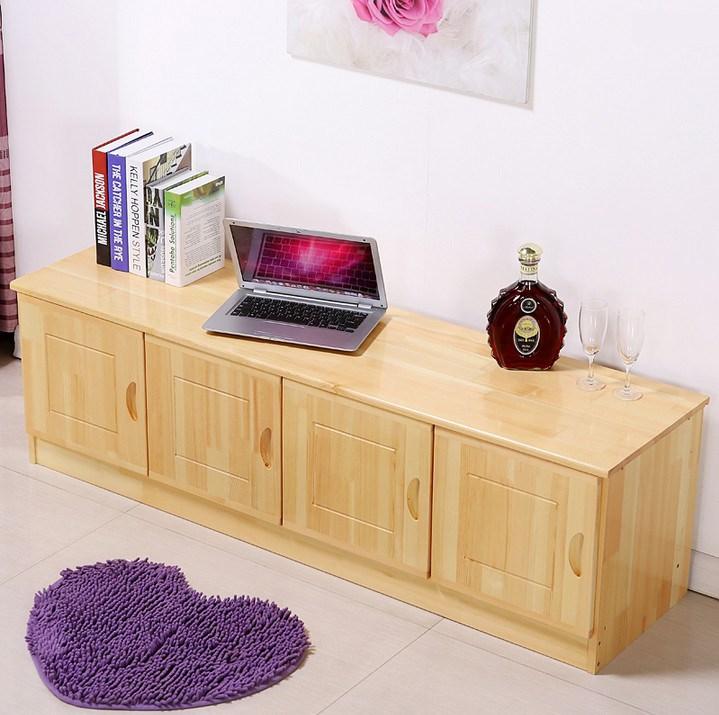 简约实木电视柜 收纳松木电视柜地柜矮柜客厅柜  阳台边柜可定制