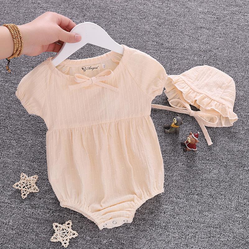 宝宝夏装女婴周岁一岁满月包屁衣婴儿夏季薄衣服公主洋气哈衣爬服