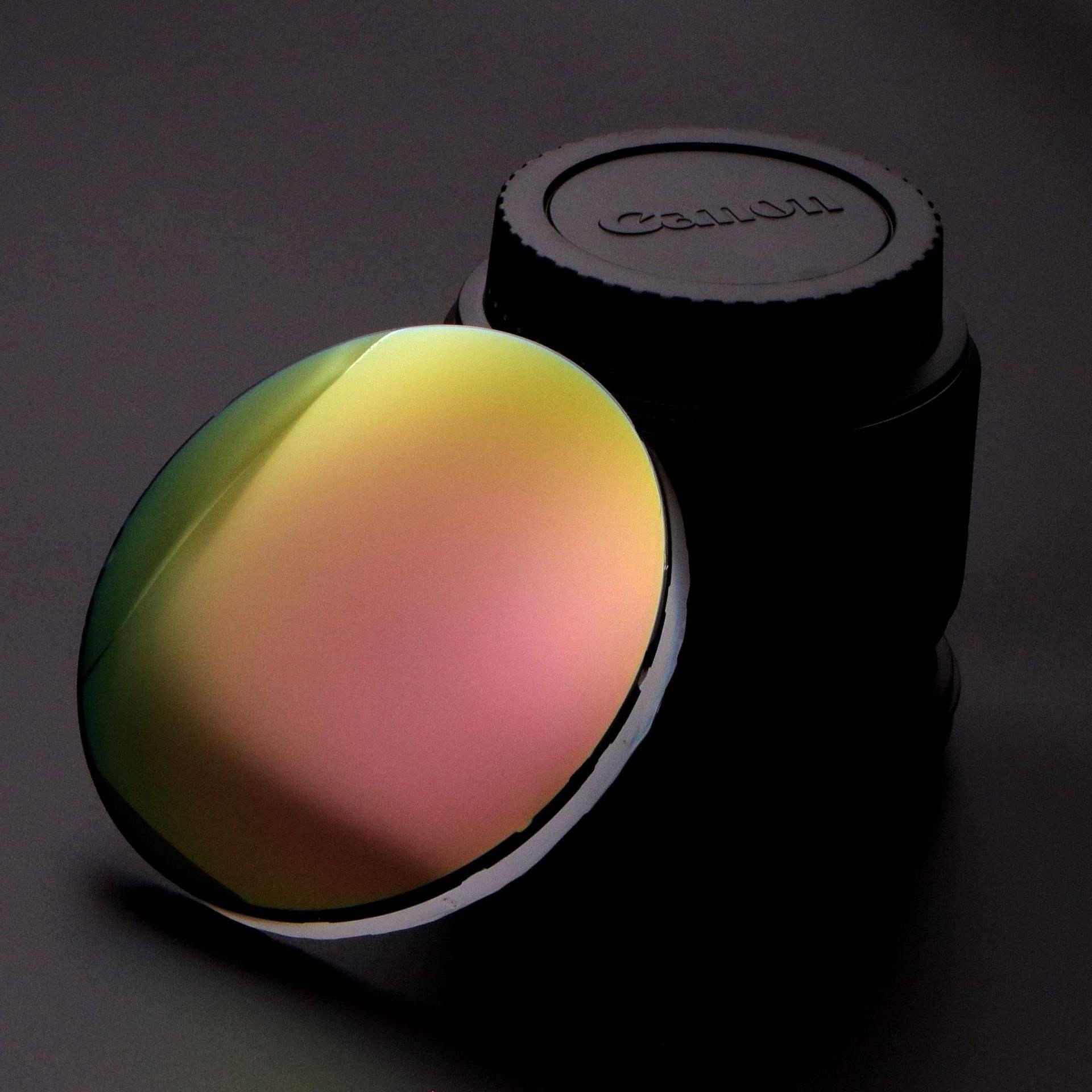新品1.61偏光近视太阳镜片玫瑰金炫彩大基弯墨镜眼镜片 男女