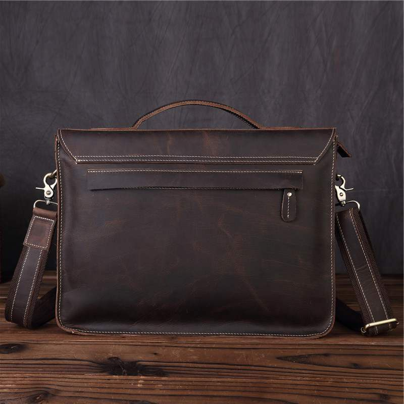 New mens Leather Briefcase Laptop Bag Shoulder Bag Handbag for mens business