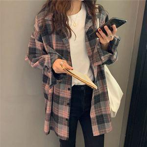 格子设计感小众新款2021年春秋衬衫