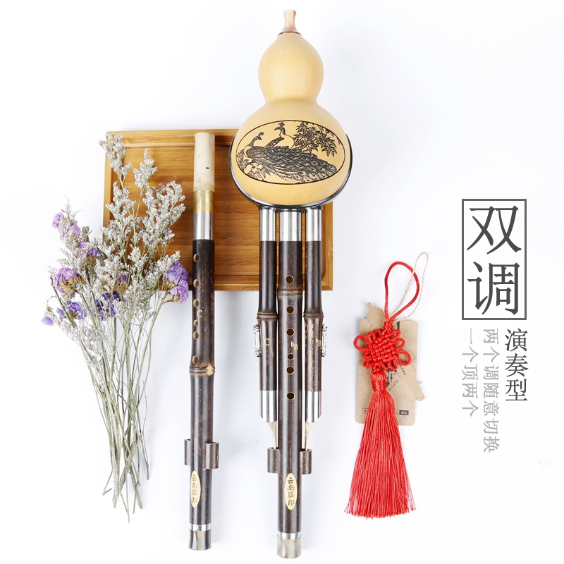 Karang Hulusi musical instrument exclusive dual adjustable Hulusi Zizhu anti falling B + C G + F