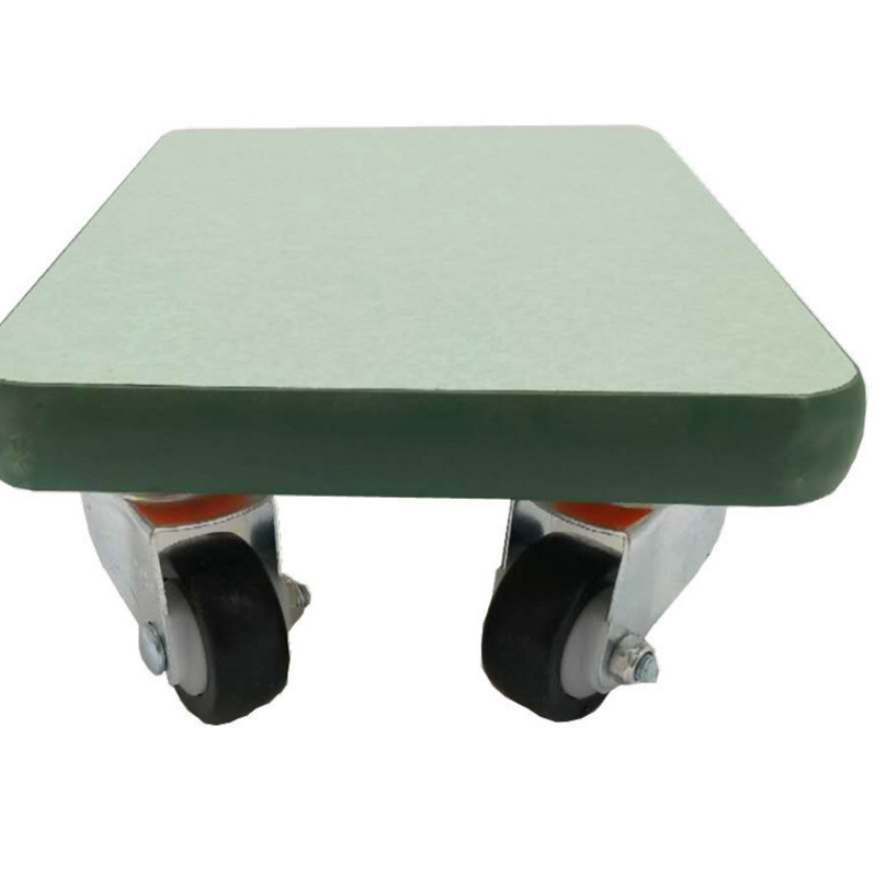 Thick wood flat universal wheel bottom line skateboard trolley anti winding computer embroidery machine accessories low stool for business