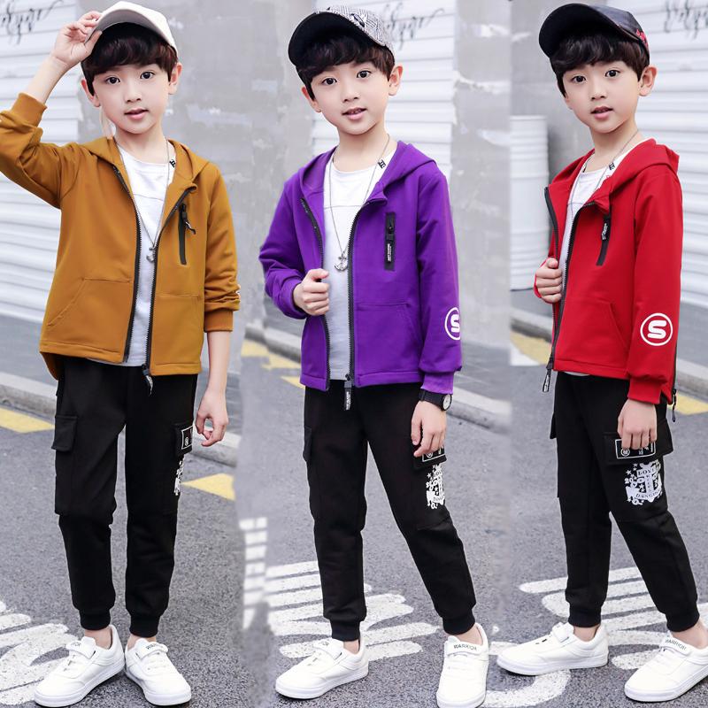 儿童装男童春装套装2020新款男孩中大童韩版春款洋气运动两件套潮