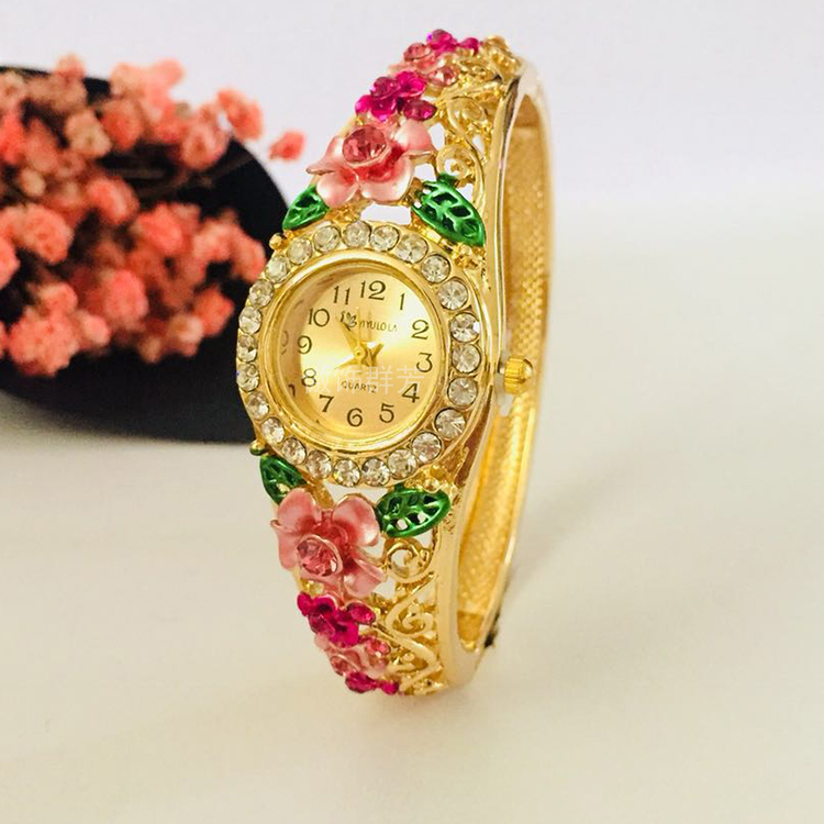 Cloisonne Bracelet Watch alloy hollowed out national style opening Beijing old fashion jewelry womens parcel mail