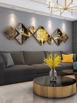 现代简约客厅装饰画北欧沙发背景墙大气组合挂画餐厅壁画轻奢墙画