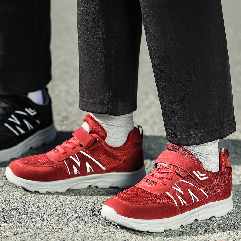 Youlikang shoes for the elderly walking shoes for the middle-aged and the elderly mom and dad shoes soft soled womens comfortable spring and autumn flat bottomed mountaineering shoes