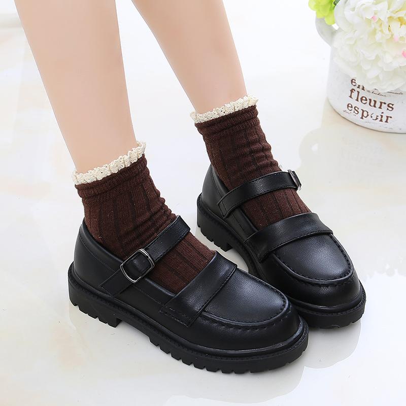 女童鞋9新款皮鞋10夏天11女孩5到12岁儿童黑色表演鞋7春季6百搭