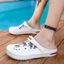洞洞鞋男夏季情侣沙滩鞋女气垫凉拖韩版防滑防水透气凉鞋包头拖鞋