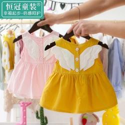 0到1周岁半2小女孩子宝宝公主连衣裙子4天3洋气5女婴儿装