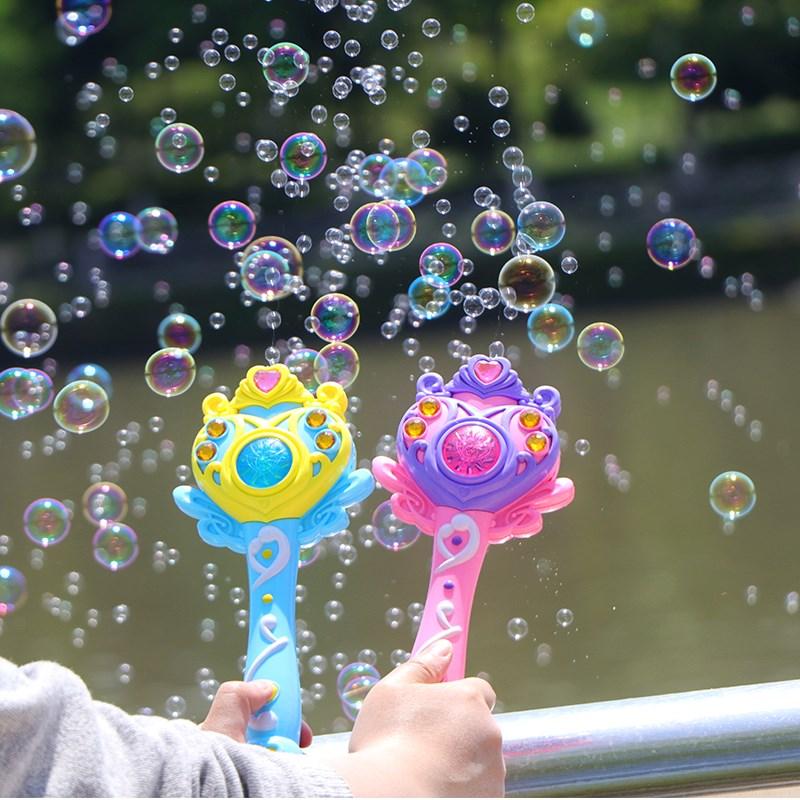 儿童全自动不漏水仙女魔法棒泡泡机音乐吹泡泡水手电动泡泡枪玩具11月05日最新优惠