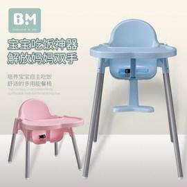 儿童吃饭座椅宝宝餐椅矮的1-2-3-6岁安全家用小孩椅子便携靠背喂