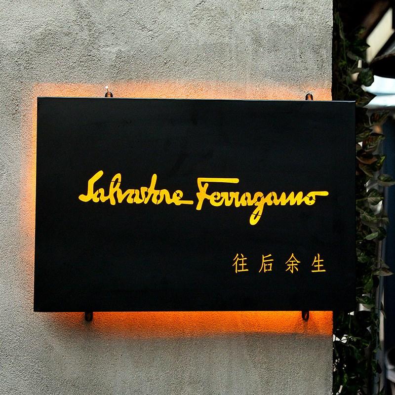 创意广告灯箱展示牌挂墙式LED发光字镂空户外服装店门头招牌定做