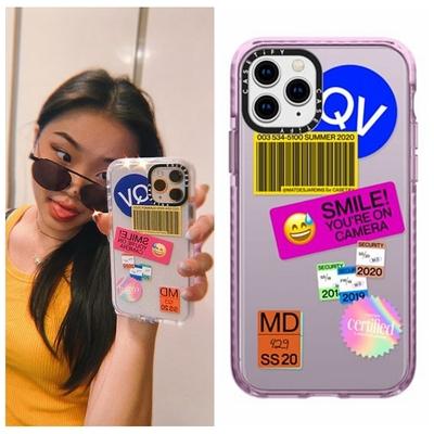 笑脸图标贴纸Casetify联名款适用iPhone 11 Pro Max XS SE 手机壳